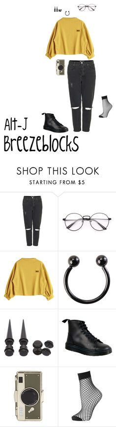 """Breezeblocks"" by burnttoasts on Polyvore featuring Topshop, Hot Topic, Dr. Martens and Kate Spade"