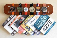 Racing Bib Marathon Medal Display Hanger Timber Apprentice on Etsy, $34.95