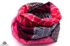 Schlichte Kleidung mit tollen Accessoires aufpeppen: Loopschal / Loop-Schal aus der Lieblingsmanufaktur - farbenfrohe Unikate