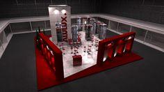 Diseño de Stand para la firma Alulux.  Veteco - Madrid  Opción 01