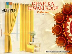Diwali is all about a pinch of yellow, orange. maroon and bright colours. Well we have all! Explore the brand new collections of curtains specially launched for Diwali to make your decor worth watching. Shop now a variety of products at https://skipperhomefashions.com/diwali-special . . . #DiwaliSpecial #DiwaliDecor #Festivity #HomeDecorStuff #GharKaNayaRoop #GharKaDiwaliRoop #DiwaliTheme #Curtains #ShopNow #SkipperHomeFashions