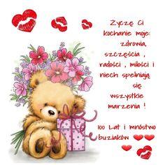 Z okazji... 💋❤🌹🥀🐞🎂🍰🍸🍹🍷🌷🌹🎂🍰🥀🐞 Happy B Day, Birthday Wishes, Teddy Bear, Humor, Birthday, Happy Brithday, Happy Birthday, Special Birthday Wishes, Happy Aniversary