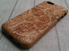 Copy of Engraving Wood iPhone 6 Case Mandala A Case