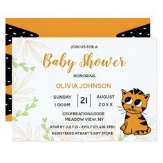 The Little Tiger Cub | Baby Shower Invitation custom gift ideas diy