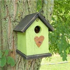 Primitive Kiwi Green Birdhouse by birdhouseaccents on Etsy, $14.00
