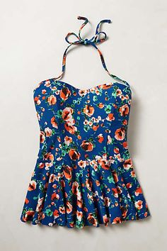 Anthropologie - Mix-and-Match Peplum Tankini.  I want this bathing suit top!!