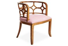 Lily Chair, Pink/Ivory Woven
