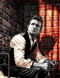 Johnny Cash Provocative portraits of Syd Barrett, Johnny Cash, David Bowie & more by comic book hero Lee Bermejo | Dangerous Minds