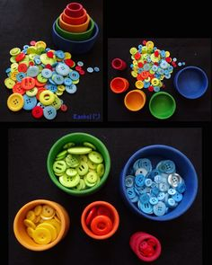 """Sorting buttons from Rachel ("""",)"""