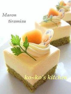 マロンティラミスケーキ