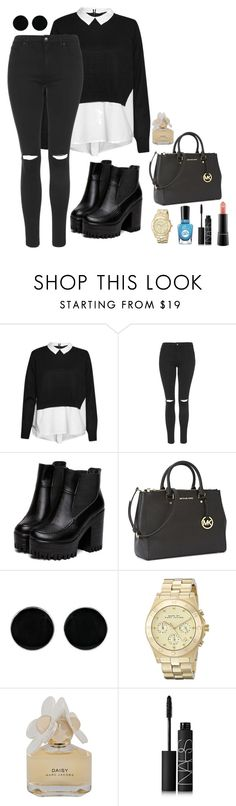 Untitled #120 by marr-neubauerova on Polyvore featuring French Connection, Topshop, Michael Kors, Marc Jacobs, AeraVida, NARS Cosmetics, MAC Cosmetics, Marc by Marc Jacobs and Sally Hansen