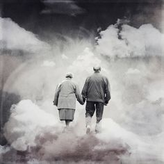 """Together, at last. """"Blessed are the hearts that can bend. they shall never be broken. Camus) Credits: Old couple by ki. Together, At Last Miss You Dad, Mom And Dad, Life After Death, Life And Death, Greek Goddess Art, Buddhist Teachings, Jesus Is Coming, Surrealism Photography, At Last"""