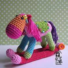 Noël Cheval à bascule Crochet Pattern par VendulkaM sur Etsy