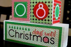Christmas Countdown Blocks Tutorial and Printables