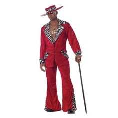 California Costumes Men's Pimp,Red,X-Large
