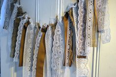 decorations?  Burlap and Lace Garland via Etsy