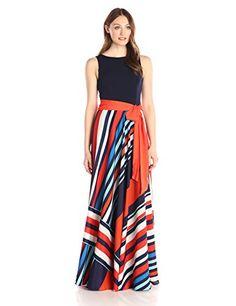 d5baee83dbc9a Amazon.com  Eliza J Women s Maxi Dress with Pleated Skirt