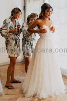 love the idea of giving bridesmaids a kimono-robe each - all different #weddings #wedding #marriage #weddingdress #weddinggown #ballgowns #ladies #woman #women #beautifuldress #newlyweds #proposal #shopping #engagement