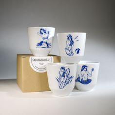 Sea Gals Mugs - inspired by sailor's tattoos
