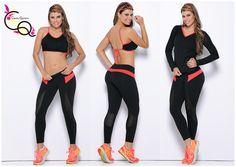 Ropa Deportiva Mujer  Conjunto 3 Piezas Ref. 623-3  Diseñadora Claudia Quintero
