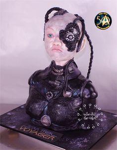 Seven of Nine, when Borg...Star Trek 50 Cake Celebration #whodidthecake # Helen Wilkinson Cake Bust