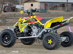 I heart the wheels on this quad.