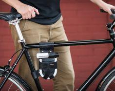 Bicycle U-Lock Holster - Frame-Mounted - Leather - for Krypto Mini-Evo 5  Lock 9ce5844bb6b6e