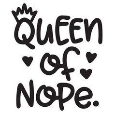 Silhouette Design Store: queen of nope