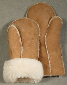 Warm Shearling Sheepskin Mittens Made in the USA Childhood Toys, Childhood Memories, Sheepskin Slippers, Mittens Pattern, Mitten Gloves, Leather Working, Leather Craft, Retro, Kids