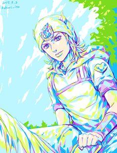 Colorful Johnny Joestar on horseback Bizarre Art, Jojo Bizarre, Jojo Songs, Johnny Joestar, Oingo Boingo, Anime Was A Mistake, Bizarre Pictures, Jojo Memes, Best Waifu