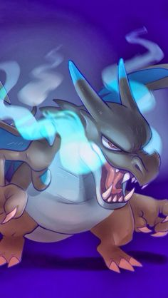 Wallpaper: Mega Charizard X    If you like it: Save it!