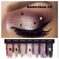 Recreate this gorgeous look with Addiction Palette number 3 with seven vibrant, rich, pigmented, long lasting, crease proof & eye popping colors for $49 @ www.yglossandgo.com #palette #makeup #younique