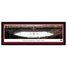 Minnesota Golden Gophers Hockey Arena Framed Wall Art, Multicolor
