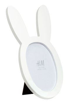 Photo Frame with Rabbit Ears | White | H&M HOME | H&M US