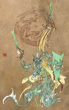 Ye Cha 夜叉; Yaksa is introduced to China from India, Yaksa is a form of Half-God that eat all ghosts.