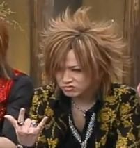 Ruki makes a great face in an interview- this is from Make on the Holiday.
