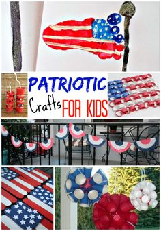 of July Crafts for Kids - The Realistic Mama : Patriotic Kids Crafts Patriotic Crafts, July Crafts, Summer Crafts, Holiday Crafts, Holiday Fun, Crafts For Kids, Children Crafts, Fourth Of July Food, 4th Of July Party