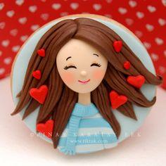 Fondant Cookies, Galletas Cookies, Fondant Toppers, Cute Cookies, Royal Icing Cookies, Cupcake Cookies, 3rd Birthday Cakes, Birthday Cookies, Aniversary Cakes