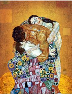 GUSTAV KLIMT :The Family - note the skin tones and mans muscles and compare Schieles work. Klimt was his mentor and main influence. Gustav Klimt, Art Klimt, Art And Illustration, Stretched Canvas Prints, Figurative Art, Oeuvre D'art, Art History, Painting & Drawing, Art Nouveau