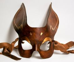 Copper and Rich Brown Rabbit Mask