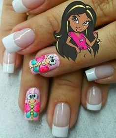 Best Nail Art Designs, Lol Dolls, Gorgeous Nails, Cool Nail Art, Manicure And Pedicure, Toe Nails, Summer Nails, Finger, Make Up Tips