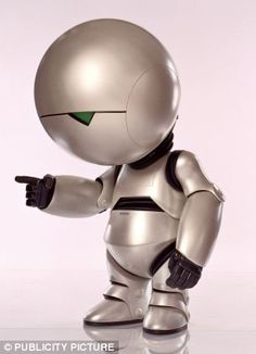 Robots will NEVER have feelings:  A mathematical model of how our brains create consciousness says emotional machines such as Marvin the Paranoid Android from Hitchhiker's Guide to the Galaxy (pictured) will never exist - because droids can't experience emotions like us.