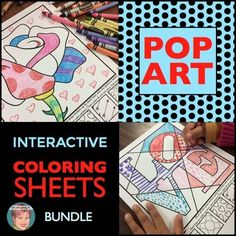 Valentine's Day: Big collection of my popular interactive coloring sheets themed for all occasions. Valentine's Day, Spring, Easter, End of school, Back to School, Halloween, Christmas and more are all included in this BUNDLE that includes over 80 of my teacher-favorite interactive coloring sheets in this one product with one goal in mind--to help you save money and time!