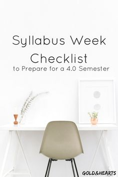 What to do during syllabus to get a 4.0 this semester   gold&hearts