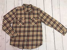 LNG Wovens Men's Plaid Long Sleeve Button Down Shirt Size XL 100% Cotton #LNGWovens