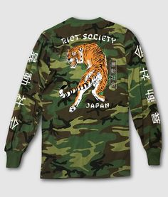 🔥🔥🔥 NEW on TheDrop.com:  Japanese Tiger Ca...   http://thedrop.com/products/japanese-tiger-camo-mens-long-sleeve-t-shirt-2?utm_campaign=social_autopilot&utm_source=pin&utm_medium=pin    --  #thedrop #thenewnew #streetwear #sneaker #skateboarding