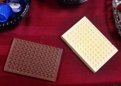 Milk chocolate and white chocolate 96-well plates! Yummy!