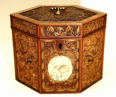 Fine Filigree Work Tea Caddy