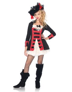 Halloween Costumes for Girls Age 10 | ... Costumes / Teen Halloween Costumes / Pretty Pirate Captain Girls