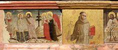 Matteo da Gualdo - Madonna in trono tra i SS. Giovanni Battista e Giovanni Evangelista, dettaglio predella - Museo civico di Gualdo Tadino (Umbria)